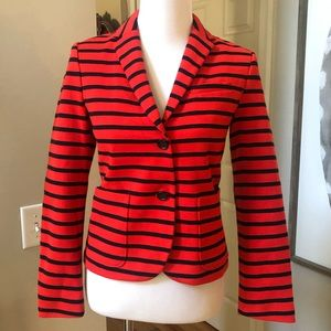 Gap Ladies The Academy Blazer Navy Blue Red Stripe